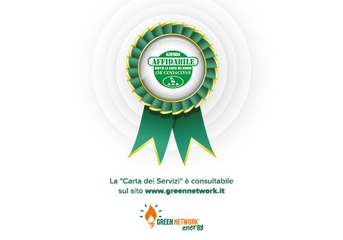 """Green Network Energy ottiene il riconoscimento di affidabilità """"Azienda Affidabile – Ok Codacons"""""""