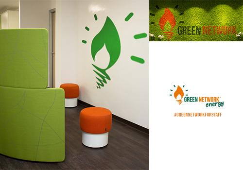 Green Network trasforma le aree di lavoro in un ambiente dinamico e stimolante