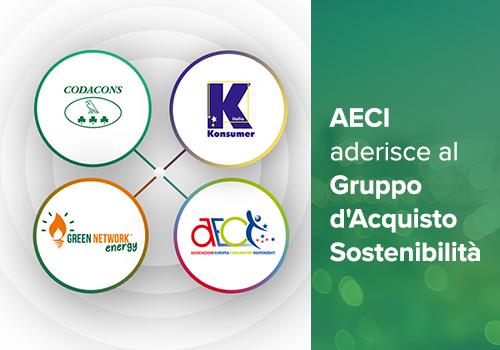 """AECI aderisce al """"Gruppo d'Acquisto Sostenibilità"""" e al protocollo di conciliazione Codacons – Konsumer – Green Network"""