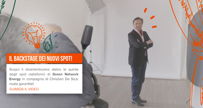 Watch the backstage of new radio commercials with Christian De Sica!