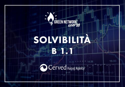 Cerved conferma nuovamente il rating B1.1 di Green Network