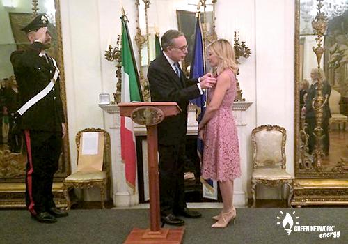 Sabrina Corbo insignita del grado di Cavaliere dell'Ordine della Stella d'Italia