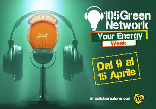Partnership tra Radio 105 e Green Network Energy per la settimana dell'energia