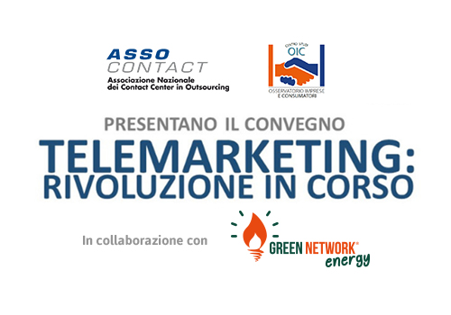 """Green Network at the """"Telemarketing: Revolution in progress"""" conference of OIC and Assocontact"""