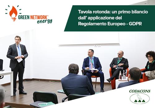 Green Network e Codacons: tavola rotonda tra imprese, associazioni dei consumatori ed esperti del settore per un primo bilancio dalla definitiva applicazione del Regolamento Europeo - GDPR