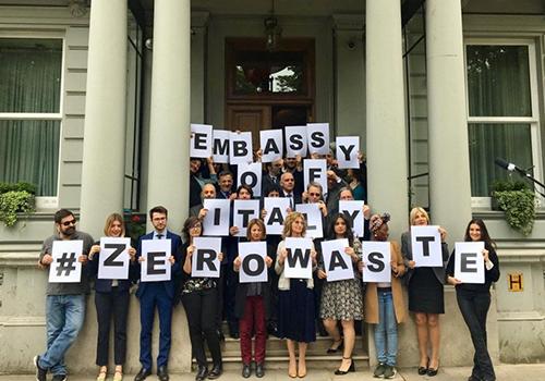 """L'Ambasciata d'Italia a Londra e Green Network protagonisti di """"Zero-waste"""""""