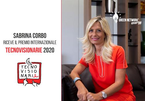 Sabrina Corbo riceve il premio Tecnovisionarie 2020