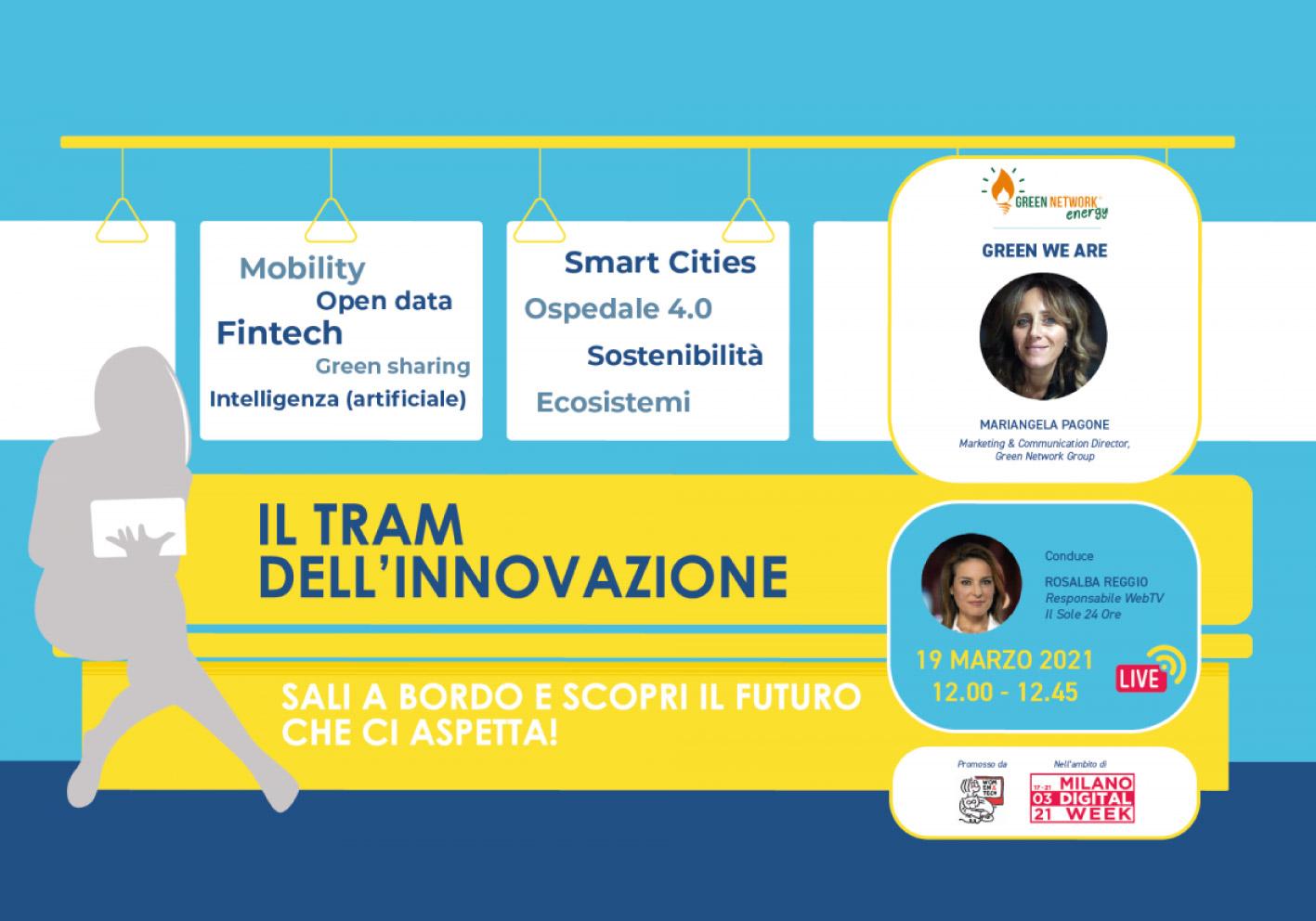 """Il Gruppo Green Network, alla Milano Digital Week, sale a bordo del """"Tram dell'innovazione"""""""